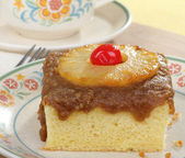 Piece of Pineapple Cake — Stock Photo