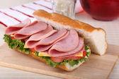 Lunch Meat Sandwich — Stock Photo