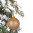 Gold Christmas Ball — Foto Stock