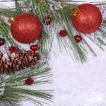 Weihnachtsschmuck-Bälle — Stockfoto