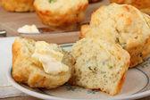 Onion Cheese Muffin — Stock Photo