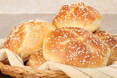 Kaiser Rolls Closeup — Stock Photo
