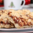 Holiday Strawberry Bars Closeup — Stock Photo