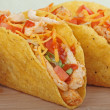 Chicken Taco Closeup — Stock Photo
