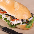 Turkey Sub Sandwich — Stock Photo