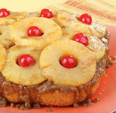 Pineapple Upside Down Cake — Stock Photo