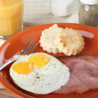Stock Photo: Ham and Eggs