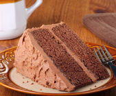 Piece of Chocolate Layer Cake — Stock Photo
