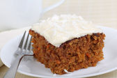 Piece of Carrot Cake — Stock Photo