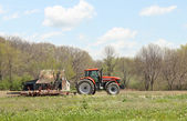 Tractor and Plow — Stock Photo