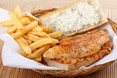 Catfish Fillet Sandwich — Stock Photo