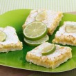 Platter of Lime Bars — Stock Photo