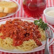 Stock Photo: Spaghetti and Meat Sauce