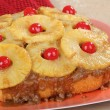 Stock Photo: Whole Pineapple Upside Down Cake