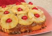 Whole Pineapple Upside Down Cake — Stock Photo