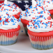 cupcakes do dia da independência — Fotografia Stock  #33641495