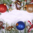 Christmas Balls and Pine Cones — 图库照片