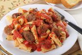 Rigatoni and Sausage — Stock Photo