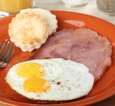 Fried Eggs and Ham — Stock Photo