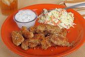 Kurczak pasek posiłek — Zdjęcie stockowe