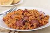 Sausage and Rice Dinner — Stock Photo