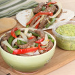 Preparing Beef Fajitas — Stock Photo