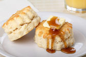 Honey and Biscuits — Foto de Stock