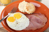 Egg and Ham Breakfast — Stock Photo