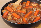 Pan of Beef Stew — Stock Photo