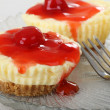 Cherry Cheesecake Cupcakes — Stock Photo