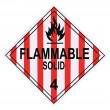 Stok fotoğraf: Flammable Solid Warning Placard