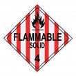 Flammable Solid Warning Placard — Stok fotoğraf