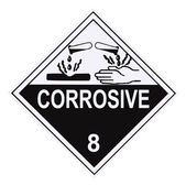 Corrosive Warning Label — Stock Photo