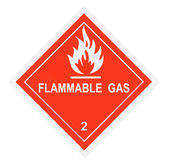 Flammable Gas Warning Label — Stok fotoğraf