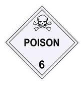 Poison Warning Placard — Stock Photo