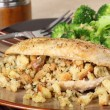Stock Photo: Chicken and Stuffing