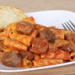 Stock Photo: Sausage Rigatoni Meal