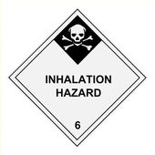 Inhalation Hazard Warning Label — Stock Photo