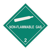 Non-flammable Gas Warning Label — Stock Photo