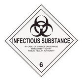 Infectious Substance Warning Label — Stock Photo