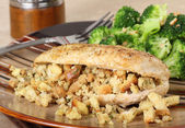 Chicken and Stuffing — Stock Photo