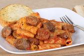 Sausage Rigatoni Meal — Stock Photo