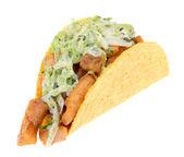 Fisch-Taco isoliert — Stockfoto