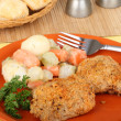 Chicken Thigh Dinner — Stock Photo