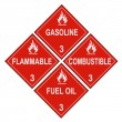 Stock Photo: Flammable and Combustible Liquid Warning Placards