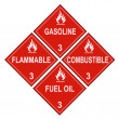 Flammable and Combustible Liquid Warning Placards — Stock Photo
