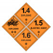 Explosive Warning Labels — Stock Photo #36079555