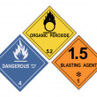 Hazard Warning Label — Stock Photo