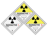 Radioactive Warning Labels — Stock Photo