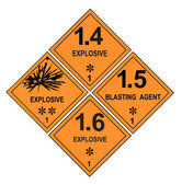 Explosive Warning Labels — Stock Photo